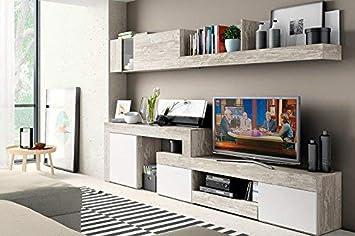 Mobelcenter - Mueble Salón Logan 003 - Blanco y Vintage ...
