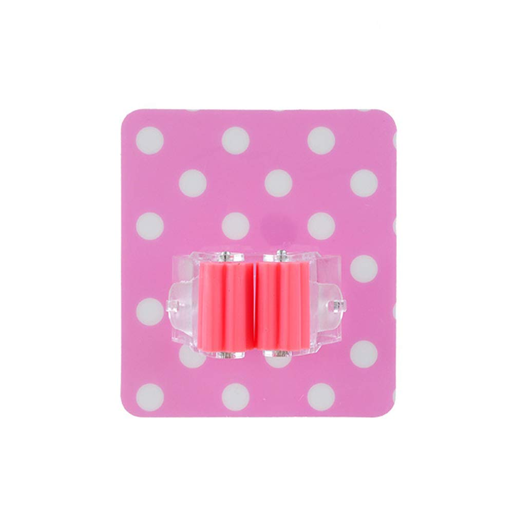SuBoZhuLiuJ Mop Hook,Creative Home Furnishing Tool Daily Necessities Dot Pattern Seamless Mop Hook - Pink