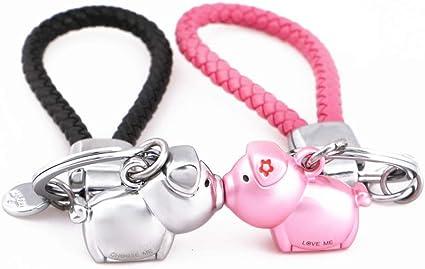MILESI Magnetic Kissing Piggy Keychain Valentine's Love presente para parejas Regalo de Navidad