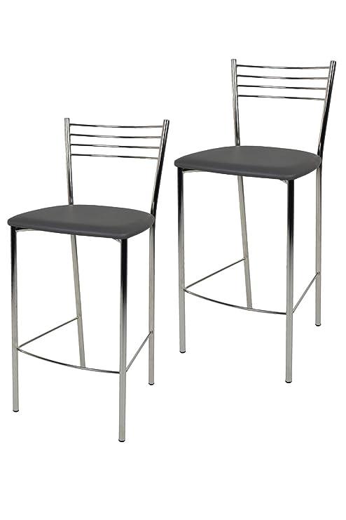 Tommychairs - Set 2 sgabelli Alti e di Design Elena per Cucina e Bar ...