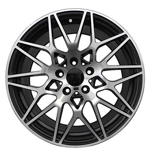 E33S - 18 inch Satin Black Wheels fits BMW 325Ci Coupe RWD 18x8 5x120 ET30 CB72.56 ()