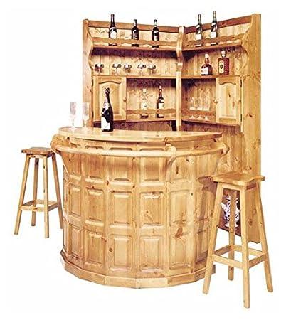 Arredamenti Rustici Completo angolo bar in pino - Colore Miele