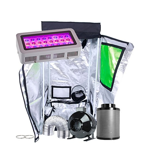 - Oppolite Indoor Grow Tent Kit Complete Package LED 300W Grow Light Kit +4