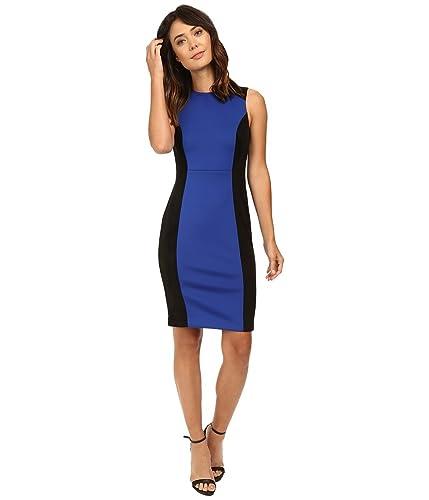 Calvin Klein Womens Scuba Sheath with Suede Inserts CD6M1127