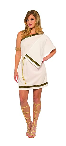 de7fdaea2 Amazon.com: Pizazz! Women's Greek Gown, White/Gold Standard: Clothing