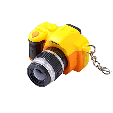 Emerayo Cute Mini Camera Keychain with LED Light and Sound Keyfob Kids Toy Gift