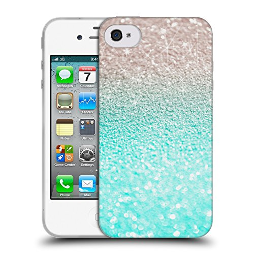 Officiel Monika Strigel Seafoam Frénésie Étui Coque en Gel molle pour Apple iPhone 4 / 4S