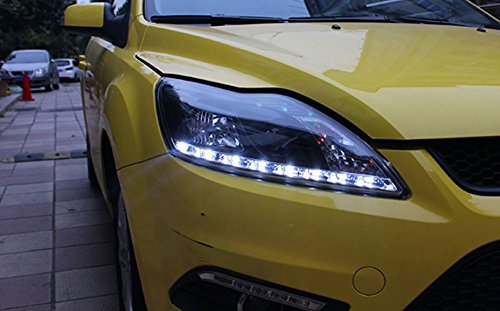 GOWE Car Styling for Ford Focus Headlights 2009-2013 Focus 2 LED Headlight DRL Bi Xenon Lens High Low Beam Parking Fog Lamp Color Temperature:8000k;Wattage:55w 2