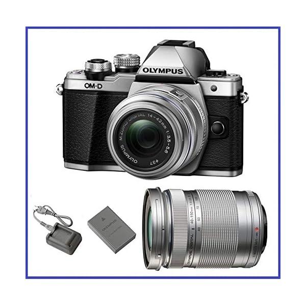 51VjghPp1eL. SS600  - Olympus M10 Mark 2 (14-42mm IIR & 40-150mm Lenses, Silver)