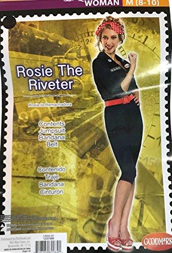 Rosie the Riveter Women's Halloween Costume- Medium (8-10)