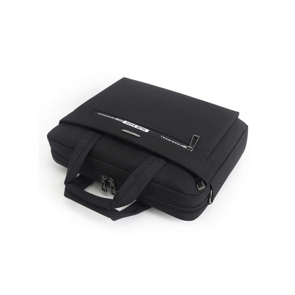 QSJY File Cabinets Mens Messenger Bag Waterproof Shoulder Bag 15 Inch Laptop 39×28×7CM (Color : Black, Size : 39×28×7CM) by QSJY File Cabinets