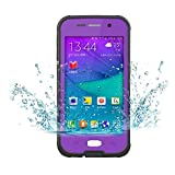 Galaxy S6 Case ,Waterproof Case Dustproof Shockproof Snowproof Gel Touch Screen Ipx8 Swimming Diving Cover For Samsung GALAXY S6 2015 (purple)