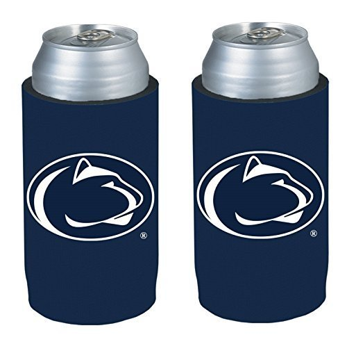 NCAA 2013 College Ultra Slim Beer Can Holder Koozie 2-Pack (Penn State Nittany Lions) (Beer Can Collectibles)