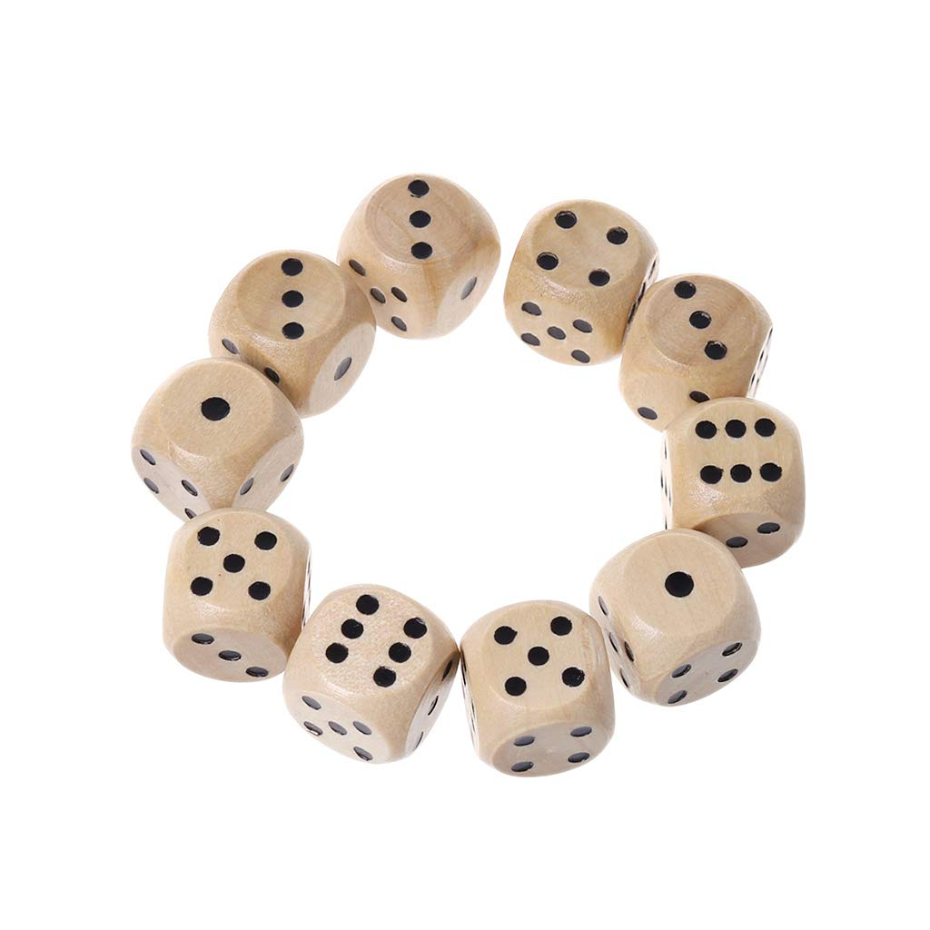 25pcs Blank D6 Six-sided Dices Cubes for Dragons D/&D TRPG Party Games Supplies