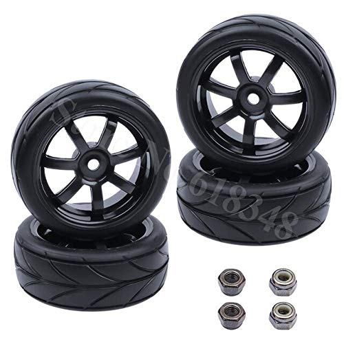 Part & Accessories New 4pcs Rubber Tires & Wheel Rims Diameter:63mm Width 26mm Dirve Hex Hub 12mm For RC 1:10 On Road Car Redcat Himoto - (Color: Type 2365) ()