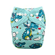 Babygoal Baby Cloth Diaper, One Size Adjustable Reusable Pocket Nappy One Diaper+One Insert YD42-B