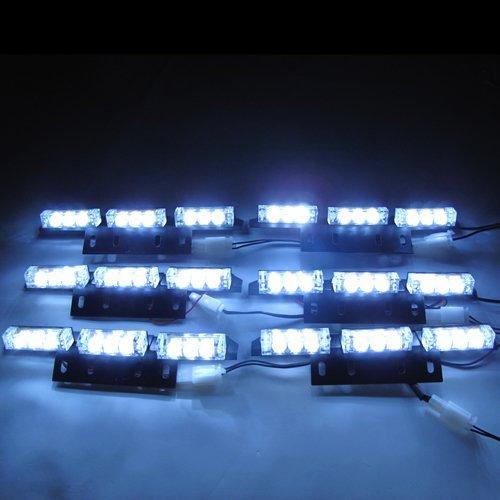 Hossen White Car Truck Boat Emergency Van Flashing Modes 54-led Strobe Light Lamp #73w