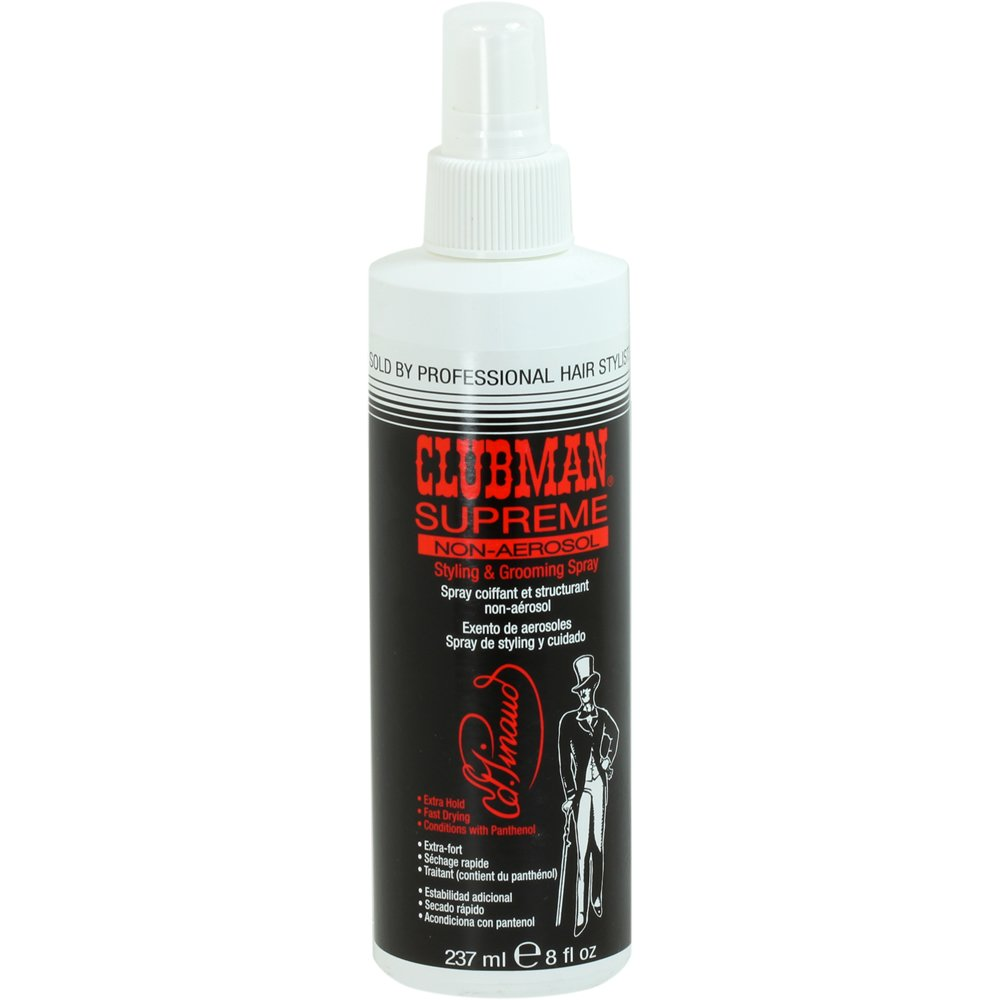Clubman Supreme Non Aerosol Styling and Grooming Spray, 8 Fluid Ounce
