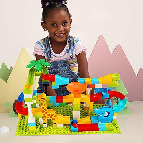 - opOpb213IL Education Learning Kids Toy,143Pcs Tumama Children Assemble Building Blocks Jungle Slide Playset Puzzle Toy