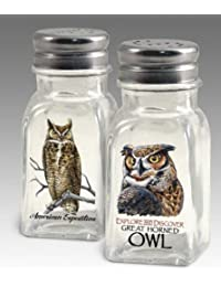 Acquisition American Expedition Glass Salt and Pepper Shaker Sets (Great Horned Owl) saleoff