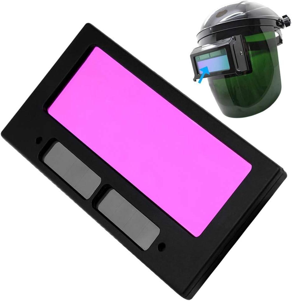 Solar Energy Auto Darkening Welding Helmet Lens,Mask Lens Automation Filter Shade Eyes Lens for Welding Mask
