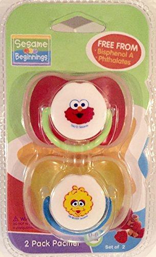 (Sesame Beginnings Pacifier 2 Pack (0-6 Months))