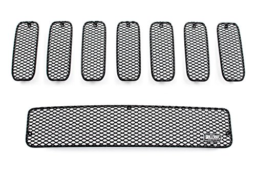 GrillCraft H2500-01B MX Series Black Upper 7pc & Lower 1pc Mesh Grill Grille Insert for Hummer (Hummer H2 Accessories Grill compare prices)
