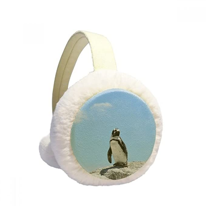 Sea Science Nature Antarctic Penguin Picture Winter Earmuffs Ear Warmers Faux Fur Foldable Plush Outdoor Gift