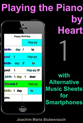 Playing the Piano by Heart: with Alternative Music Sheets for Smartphones