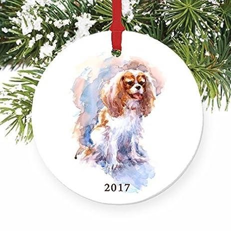 Funny Christmas Ornament Crafts Cavalier King Charles Spaniel Dog Ornament  Xmas Tree Decorations 2017 - Amazon.com: Funny Christmas Ornament Crafts Cavalier King Charles