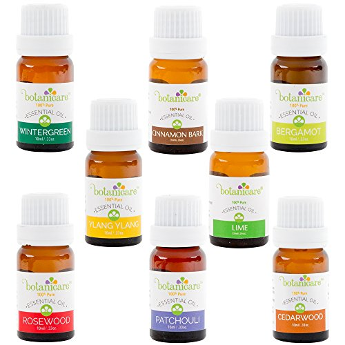 Essential Oils Aromatherapy Kit, 8 10ml bottles Great for Aromatherapy Diffuser Oil, Diffuser Bracelet, or making Bath Bombs. Perfect Gift Set Cedarwood, Rosewood, Wintergreen, Bergamot, Ylang Ylang..