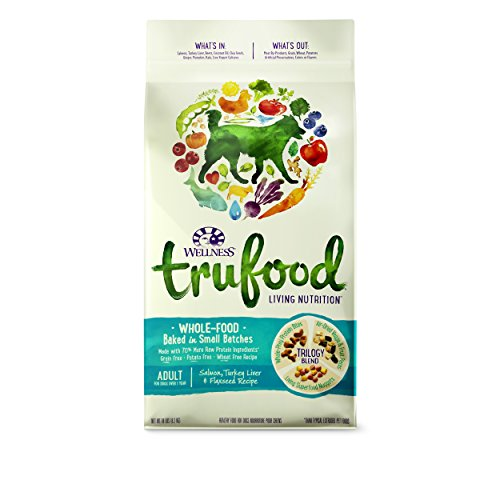 Wellness TruFood Baked Blends Natural Grain Free Dry Raw Dog Food, Salmon, Turkey & Flaxseed, 18-Pound Bag
