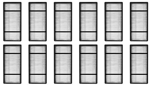 Honeywell Compatible HEPA Filter Replacement Compared to Filter H HRF-H1. Fits Air Purifier Model HPA050, HPA150, HPA060, HPA160, HHT055 and HHT155, 12 Packs by Nispira