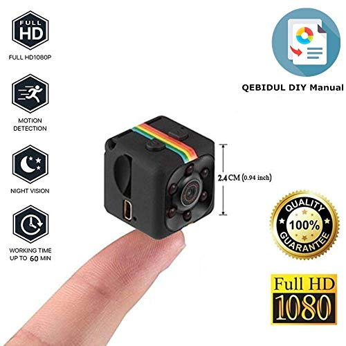 QEBIDUL SQ8 SQ9 Upgrade SQ11 Mini Camera 1080P Full HD Sports Micro Cam Motion Detection Camcorder Infrared Night Vision Digital Video Recorder Wide Angle ()