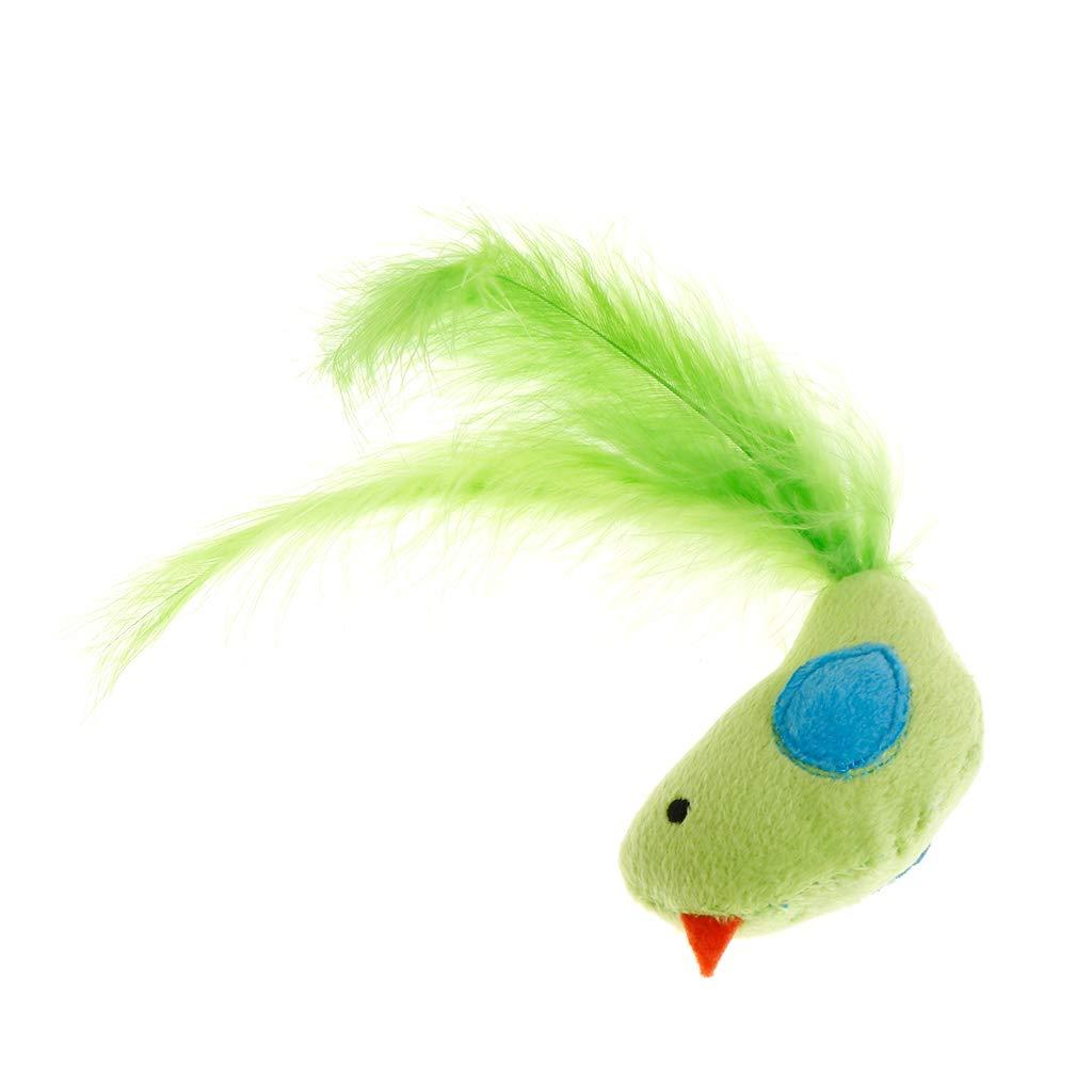 Colore a Caso Rtengtunn Cat Toys False Bird Feather Giocattolo Artificiale Gioca Interactive Kitten Catnip Teaser Pet Supplies Accessori Colorati