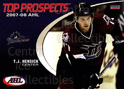 ((CI) TJ Hensick Hockey Card 2007-08 AHL Top Prospects 19 TJ Hensick)