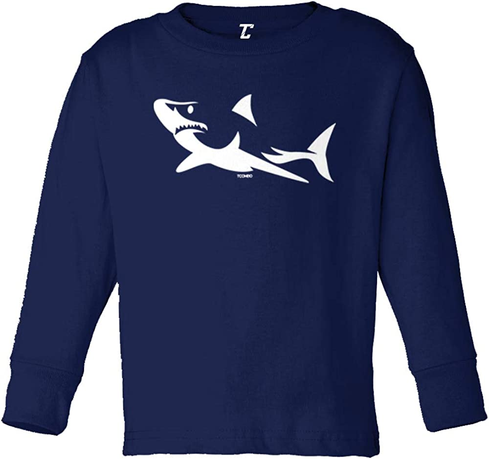 Shark Silhouette - Stylized Great White Infant/Toddler Cotton Jersey T-Shirt