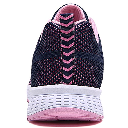 A08 BIGTREE Up Athletic Sport Men Sneakers Breathable Flyknit Navy upper Women Running Shoes Lightweight double Flats Casual Lace HHwrBqx