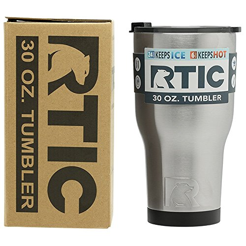 RTIC (191) Double Wall Vacuum Insulated Tumbler, 30 oz, Stainless Steel by RTIC (Image #2)