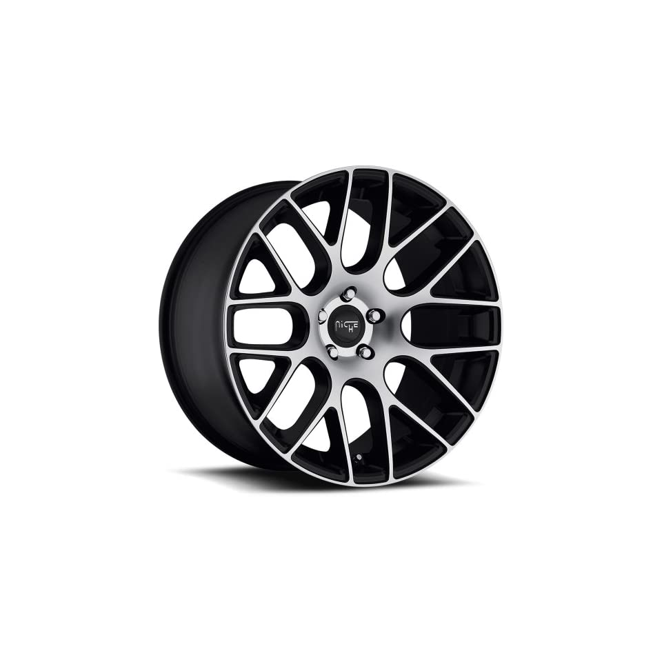 Niche Circuit 20 Machined Black Wheel / Rim 5x4.5 with a 35mm Offset and a 72.60 Hub Bore. Partnumber M108208565+35