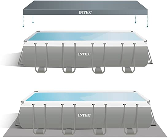 Intex Ultra Frame Piscina Desmontable, 17.203 litros, Gris, 549 x ...