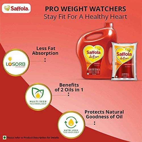 Saffola Active, Pro Weight Watchers Edible Oil, Jar, 5 L 3
