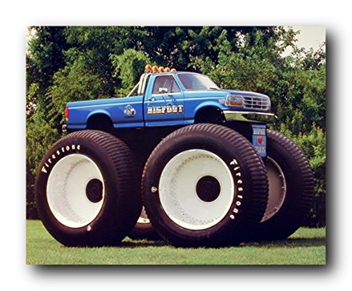 1993 Ford Racing Bigfoot Monster Truck Wall Decor Art Print Poster