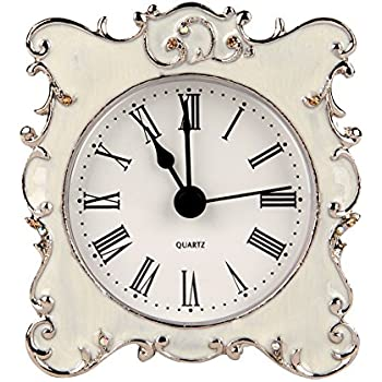 Merveilleux NIKKY HOME Pewter Pretty Small And Cute Vintage Table Clock With Quartz  Analog Crystal Rhinestone 3