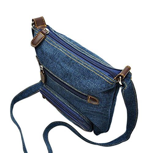 Satchel Tote Women Messenger CHIC Bag Shoulder Handbag Ladies Denim Bags Hobo CHIC Casual Purse SBwfxvqgx8