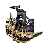 Pirate Ship Wooden Models,3D Wooden Sailing Ships Models Puzzle-Brain Teaser Puzzles Kid's Wooden Building Wood Craft Kits, Educational Toys DIY 3D Wood Puzzles