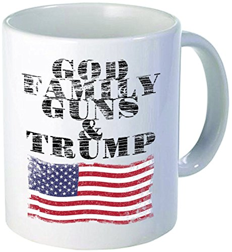 Select Beer T-shirt - Funny Mug - God Family Guns And Trump Pro Donald Trump Anti Hillary Clinton Mug Tea Cup - 11 OZ Coffee Mugs - 11 oz Coffee Mug - Funny Inspirational Sarcasm Sarcastic Witty