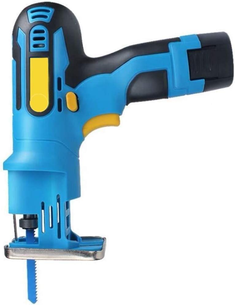Sierra recíproca y sierra caladora 2 en 1 de 10.8 V con modo de seguimiento, cambio de velocidad continuo y cambio de herramienta sin herramientas