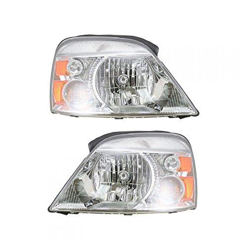 Headlights Headlamps Left & Right Pair Set for 04-07 Ford Freestar Monterey