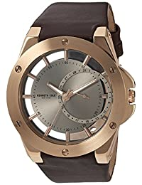 Kenneth Cole New York Men's 10030786 Transparency Analog Display Japanese Quartz Brown Watch